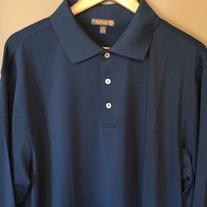 Peter Millar Long Sleeve Golf Polo LT